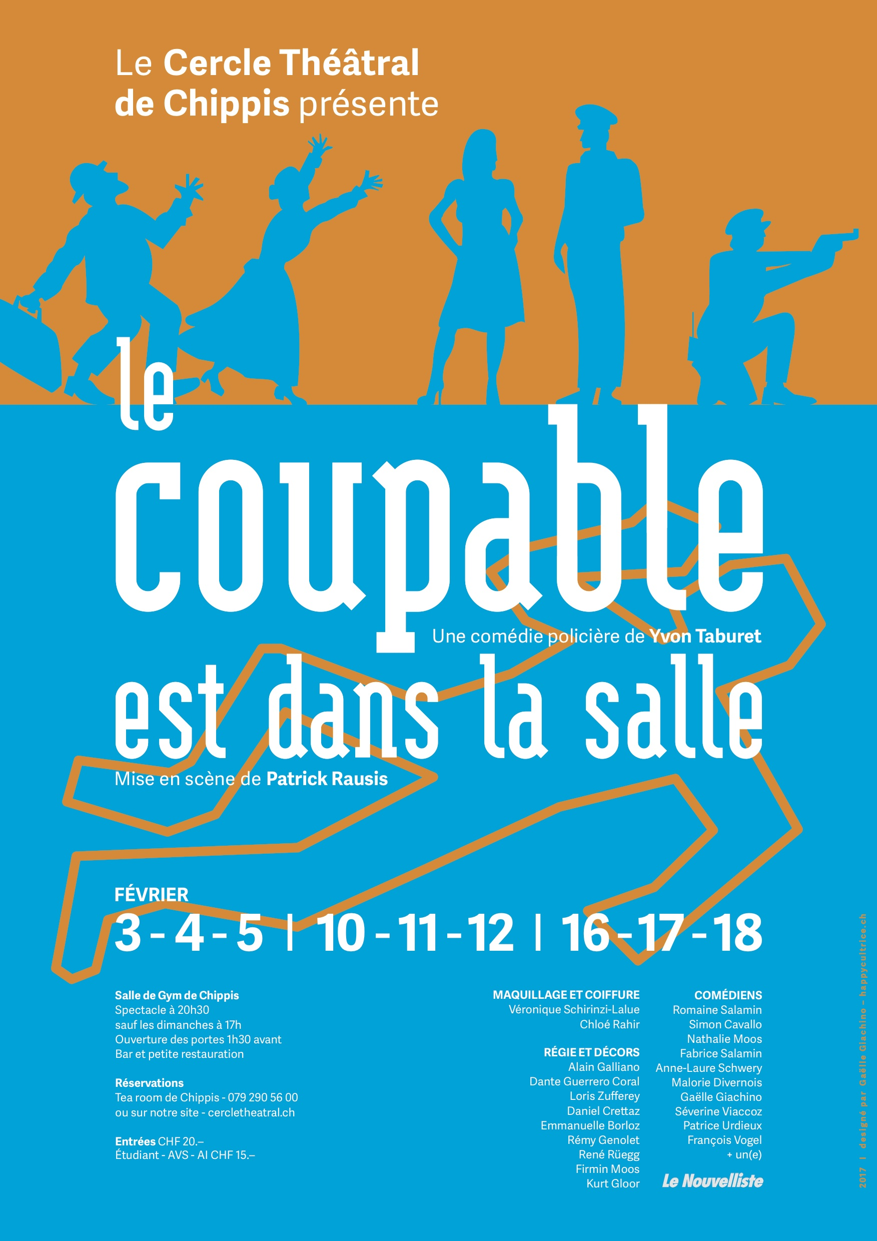 Affiche coupable salle